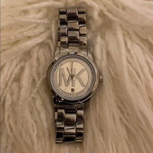 Silver Michael Kora Watch